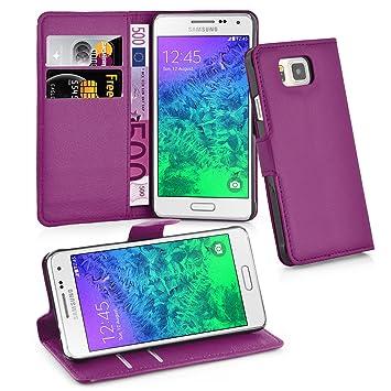 Cadorabo - Carcasa para Samsung Galaxy Alpha en manganeso, Color Morado