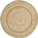 VHC Brands Coastal Farmhouse Flooring - Harlow Tan Round Jute Rug, 8' Diameter