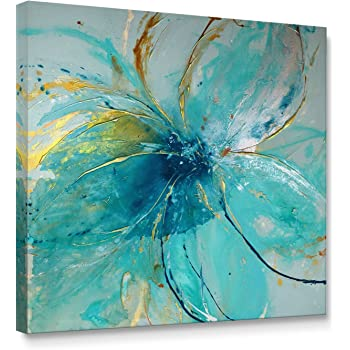 Amazon Framed Abstract Canvas Prints Wall Art Teal Animal