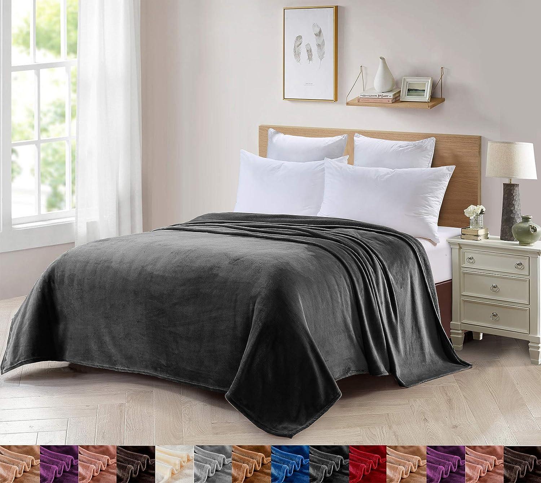 Foren Tex Manta para sofá y Cama de Franela (S-3100) 300GMS Sin Pelusas No Suelta Pelo Tacto Suave y Cálida Varios Tamaños y Colores (130x150cm)
