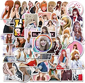 50 Pcs Non-Duplicate Trendy Vinyl Singer Stickers for Blackpink,Fashion Stickers for Kids Boys Girls Adults Teens, Waterproof Decals Stickers Pack for Laptop Waterbottle MacBook Flasks Phone Bike.