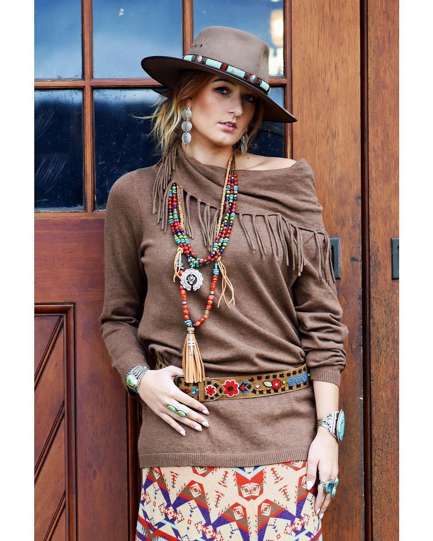 Tasha Polizzi Women's Thoroughbred Tunic Brown Medium by Tasha Polizzi