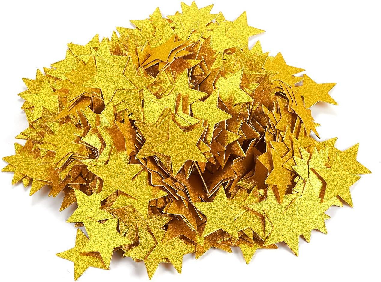 Juego de 500 piezas de papel de confeti con forma de estrella ...