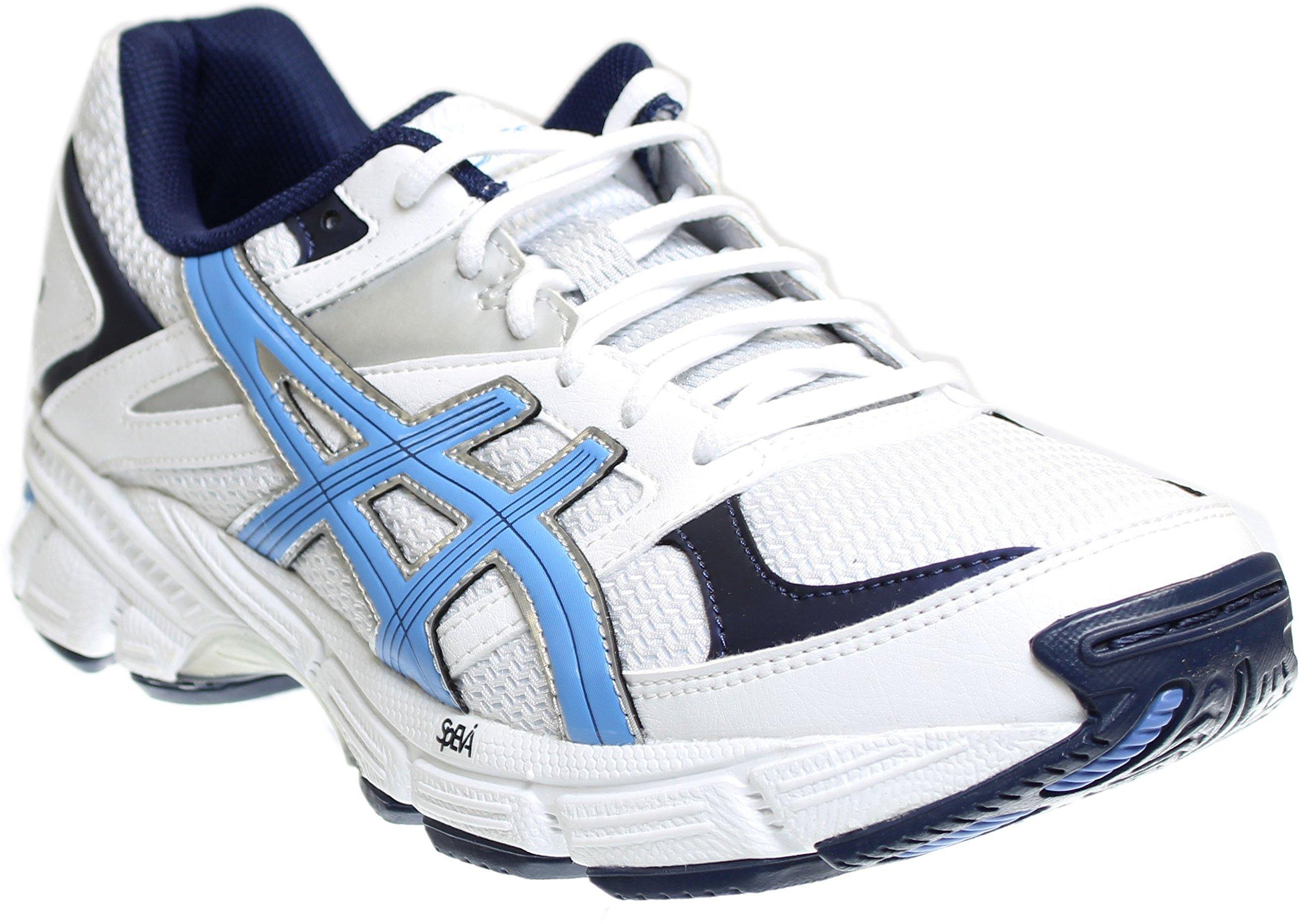ASICS Women's Gel 190 TR Training Shoe, White/Periwinkle/Midnight Navy, 9.5 2E US