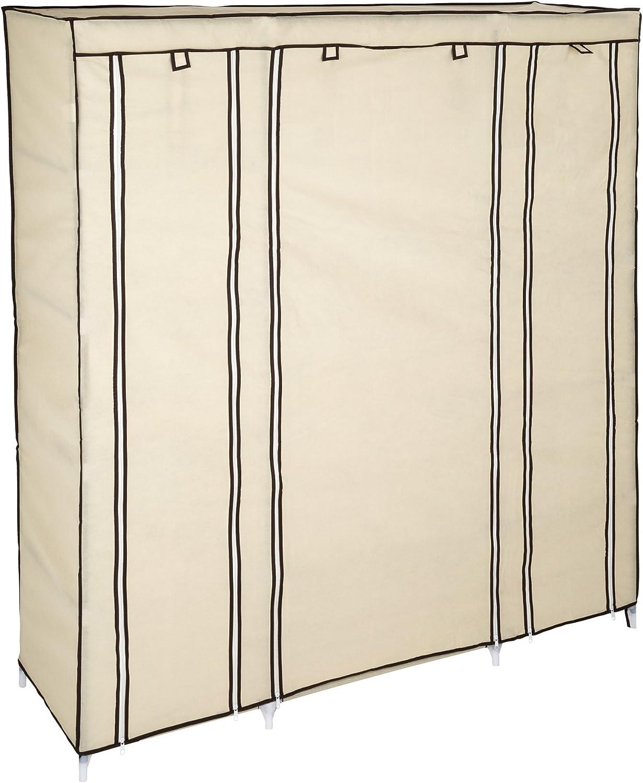 -Diverse Farben- 150 x 175 x 45 cm Beige   Nr. 402527 TecTake Kleiderschrank Stoffschrank Garderobe Faltschrank mit Kleiderstange /& 12 F/ächern
