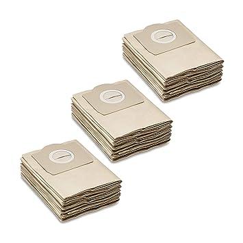15 Bolsas de papel para aspiradoras Kärcher seco/húmedo ...