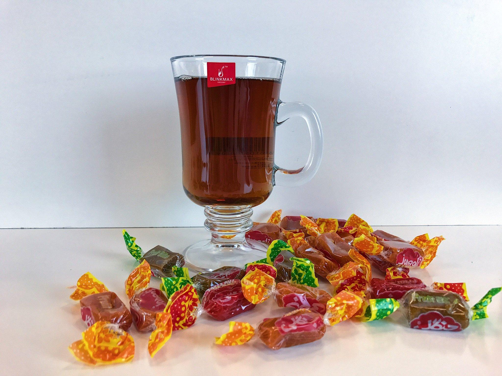BlinkMax 7.7 ounce (230 ml) Irish Coffee Mug, 4-Piece Set