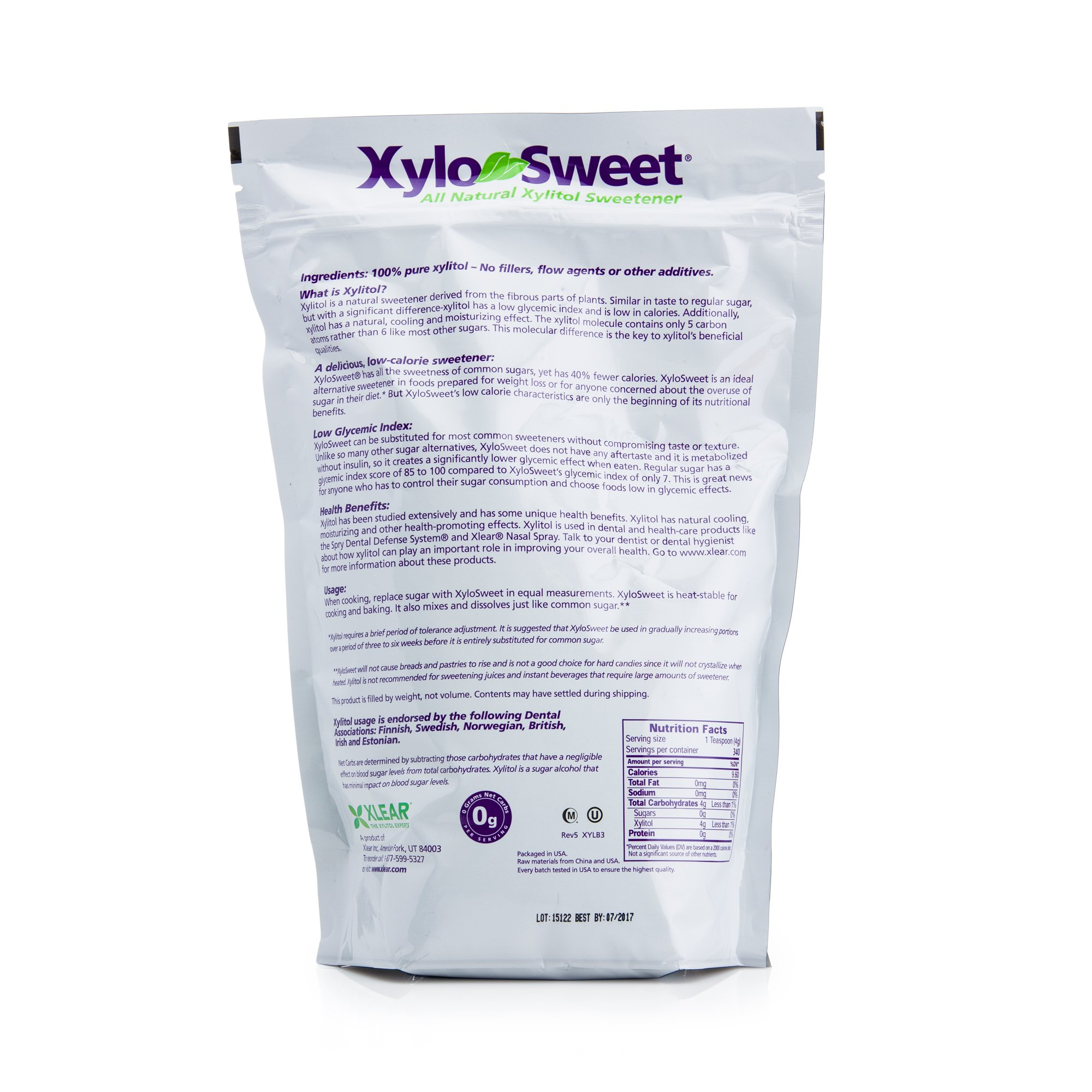 Xlear XyloSweet Xylitol Sweetener - 3lb Bag by Xlear (Image #2)