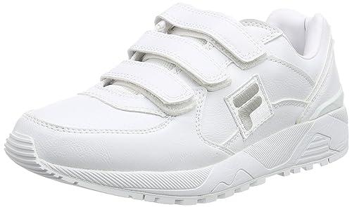 Homme Blanc Weiß Bright White Autres Cuir Fila F FIT VELCRO