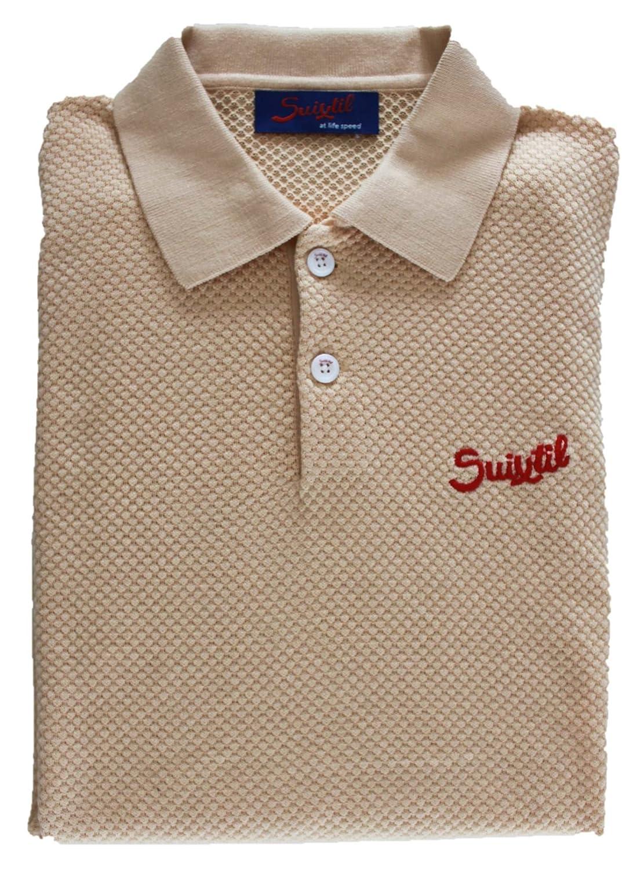or M Suixtil Hommes's 100% Pima Cotton Nassau manche courte Polo