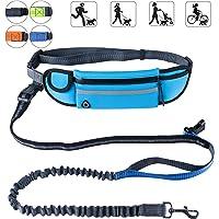 "PetforCity Hands Free Dog Running Leash with Waist Belt Pack Shock Absorbing Bungee Adjustable Belt Fits up to 45"""
