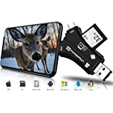 Trail Camera Viewer SD Card Reader, 4 in 1 Hunting Deer Camera Memory SD Card Reader to View Wildlife Scouting Game…