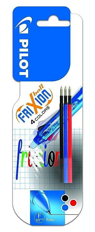 9 x PILOT Frixion POINT Tintenroller Ersatzmine blau schwarz rot grün Minen