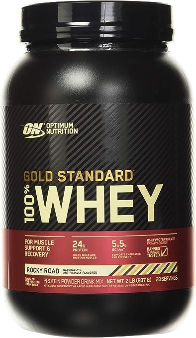 100% Whey Gold Standard 2 lbs (908g) Rocky Road (chocolate, nubes y almendras)