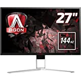 AOC Agon 27 inch 144 Hz 2560 x 1440 LED Gaming Monitor, 1 ms Response Time, Height Adjust, Display Port, HDMI, DVI, VGA, Speakers, 4 x USB 3.0, Adaptive Sync, Vesa AG271QX