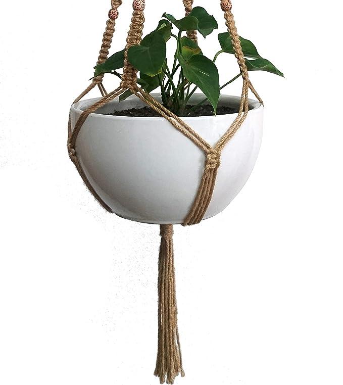 Suspension Pour Plante En Macrame Pour Pot De Fleur De 25 4 Cm