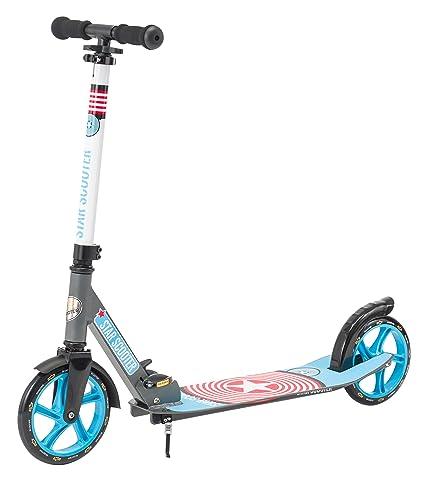 Star-Scooter Patinete Patineta Scooter Plegable XXL para niños y niñas a Partir DE 6-7 años y Adultos para Ciudad | 205 mm Edición mas Ancha, con más ...
