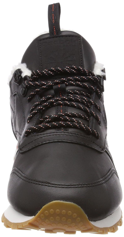 Reebok Damen Classic Leder (schwarz/Burnt Arctic Sneaker, Schwarz Schwarz (schwarz/Burnt Leder Amber/Chalk/Gum) 61bf2d