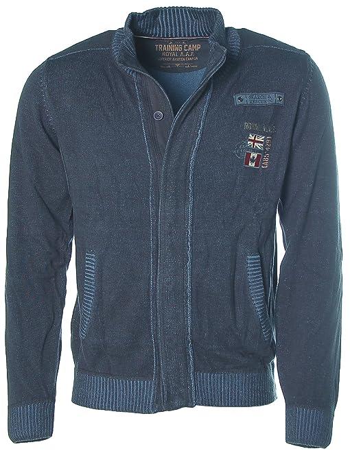 Shoppen Sie Kitaro Herren Strickjacke Strick Jacke -Search & Rescue- Navy M  auf Amazon.de:Jacken
