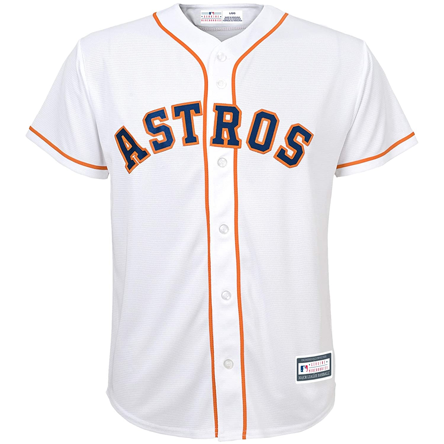 buy popular 4c24a ba6bc Outerstuff Carlos Correa Houston Astros #1 White Youth Cool Base Home  Replica Jersey
