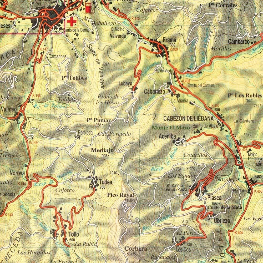 Parque Nacional de los Picos de Europa. Mapa topográfico ...