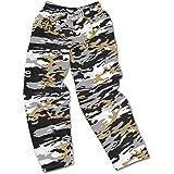 amazon com zubaz men s nfl team logo print comfy jersey pants