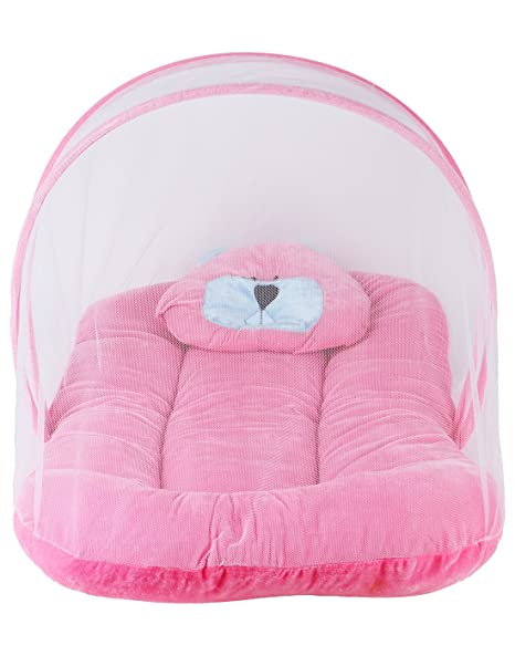 Littly Contemporary Velvet Baby Bedding Set (Pink)