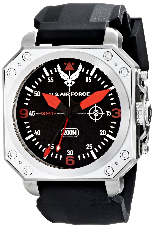 Wrist Armorメンズwa365 C4ステンレススチールAnalog Display Swiss Quartz GMT Watch withブラックシリコンストラップ B00J7MO2D8