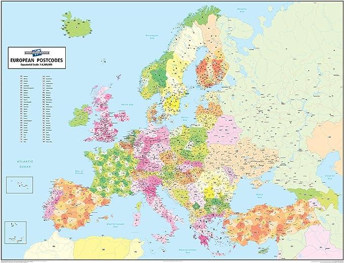 Código postal mapa Europea: Amazon.es: Oficina y papelería