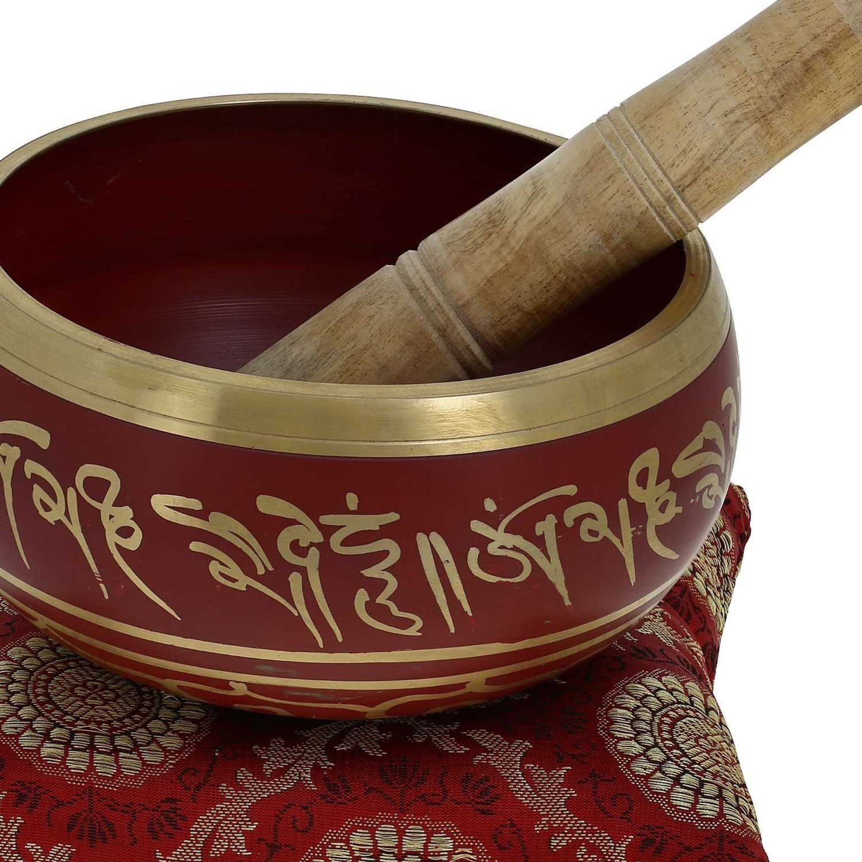 Art bouddhique de d/écor tib/étain m/éditation Singing Bowl verte 14 CM