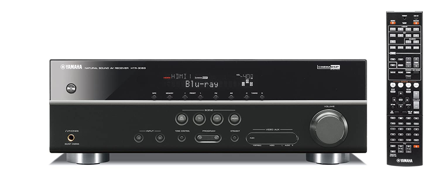 Yamaha Htr 3063bl 51 Channel 500 Watt Av Receiver Baby Boomer 600w Dual 8quot Subwoofer Electronicswoot Discontinued By Manufacturer Home Audio Theater