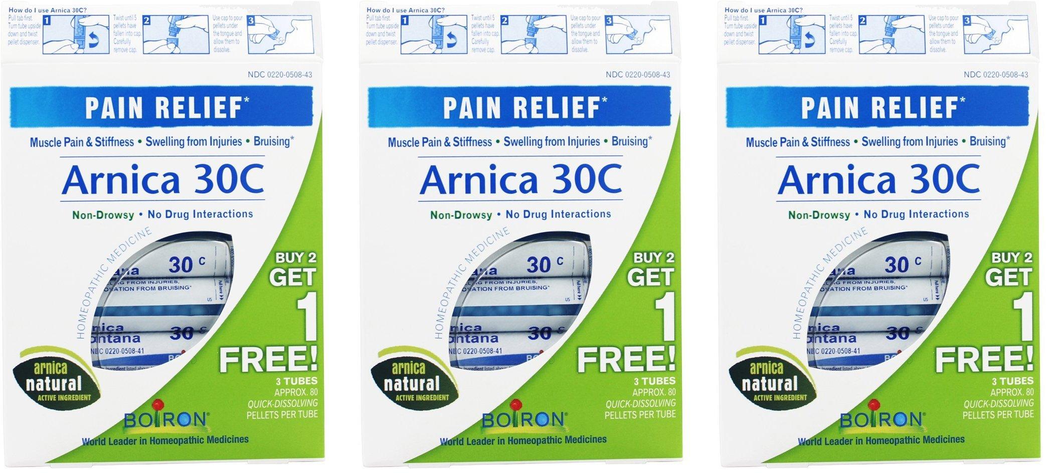 Boiron Arnica 30C Pellets (3 tubes per box) (Pack of 3)