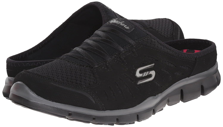 Skechers Sport Women's No Limits Slip-On Mule Sneaker B014EY28R0 8 M US|Black