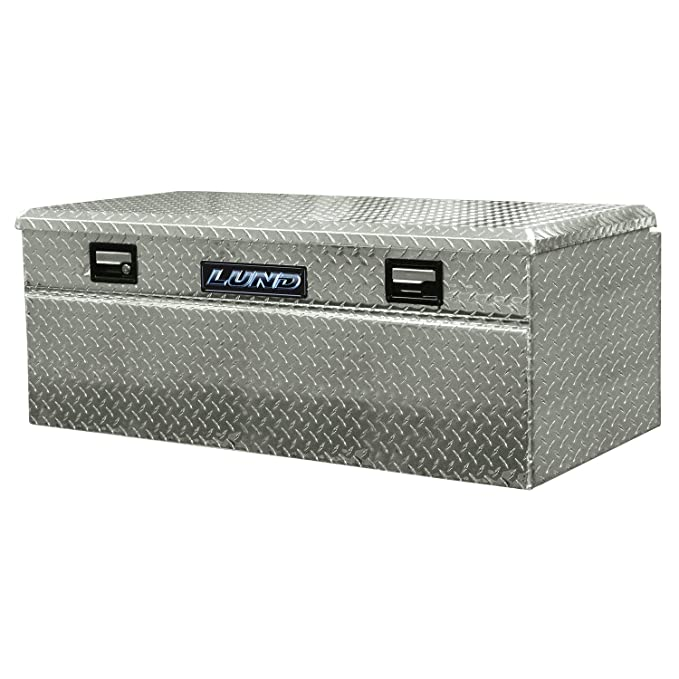 Silver Lund 9447WB 48-Inch Aluminum Wide Flush Mount Single Lid Truck Tool Box Diamond Plated