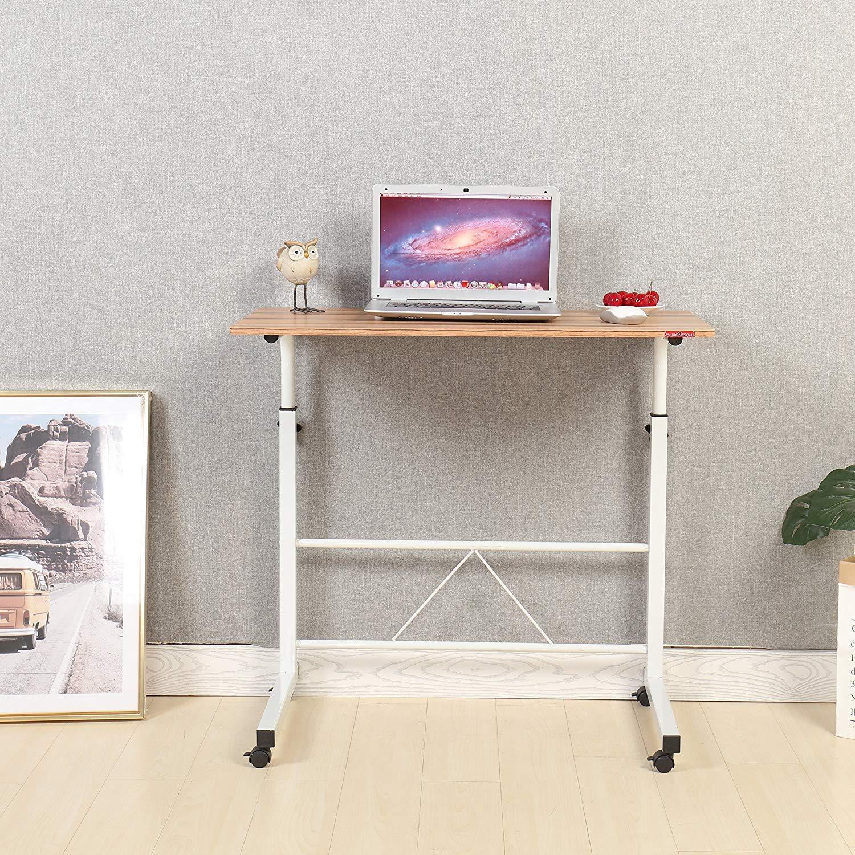Escritorio ajustable portátil con ruedas para ordenador u otros usos de Mr IRONSTONE: Amazon.es: Hogar