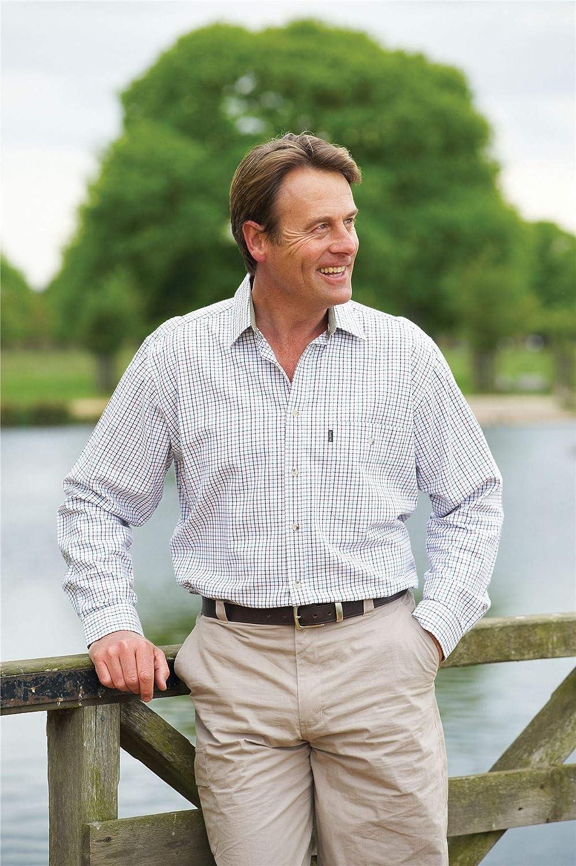 kariert Herren Langarmshirt im Country-Stil Walker /& Hawkes 100/% Baumwolle