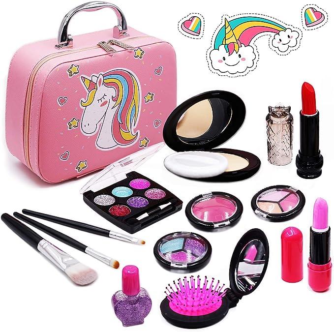 Senrokes Washable Makeup Unicorn Cosmetic Toy Girls
