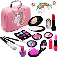 Senrokes Washable Makeup Unicorn Cosmetic Toy Girls Play Real Makeup Kit, Princess Unicorn Makeup for Girls / Toddlers…