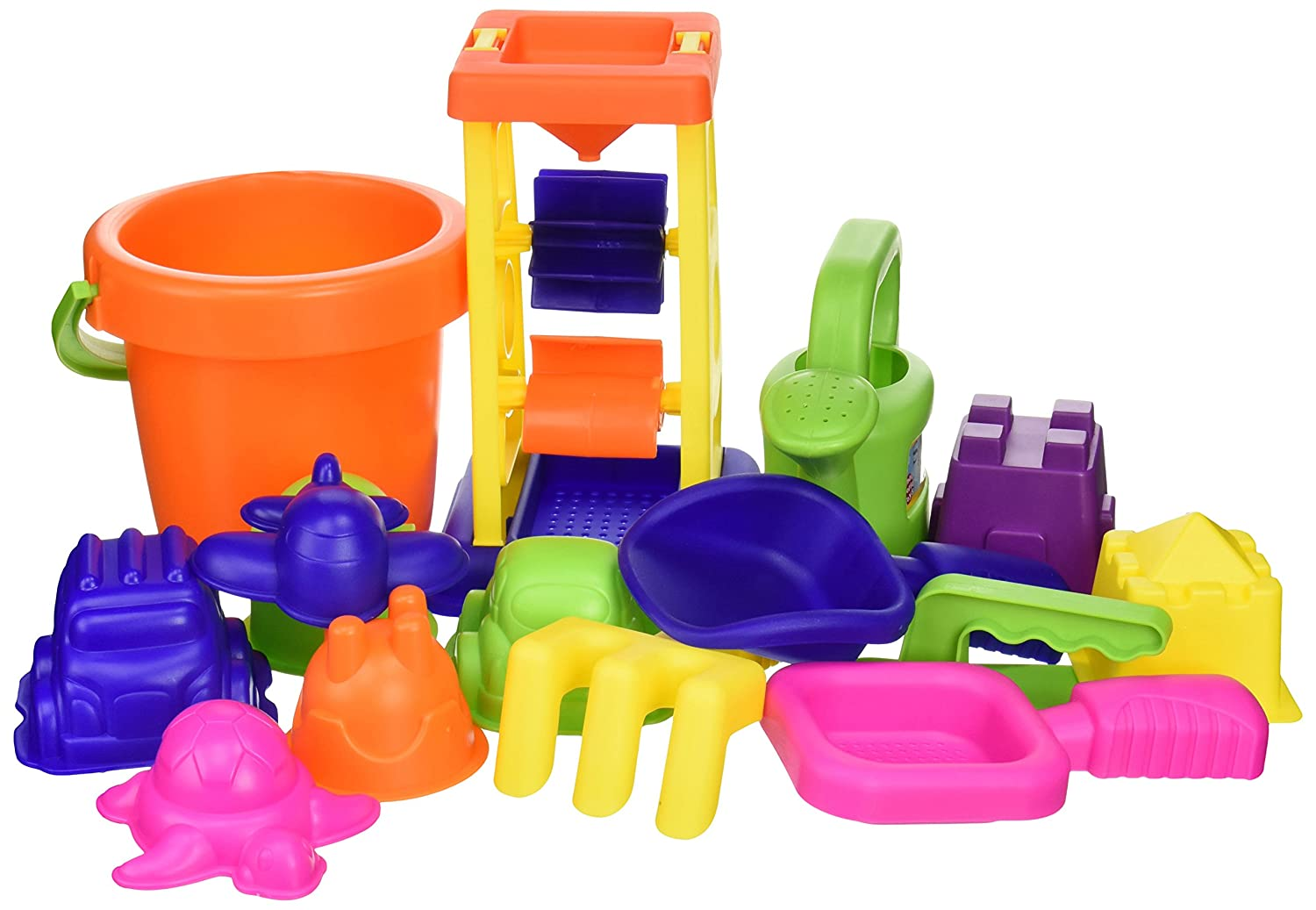 Small World Toys Sand /& Water 15-pc Sand Toy Set