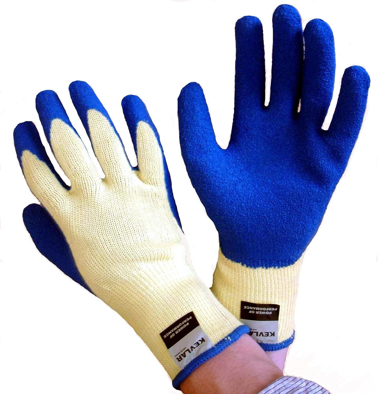 Guantes Resistentes de Corte Super Fuertes y Costoso Kevlar y Latex Los mejores guantes de trabajo que conocer/á! PAR