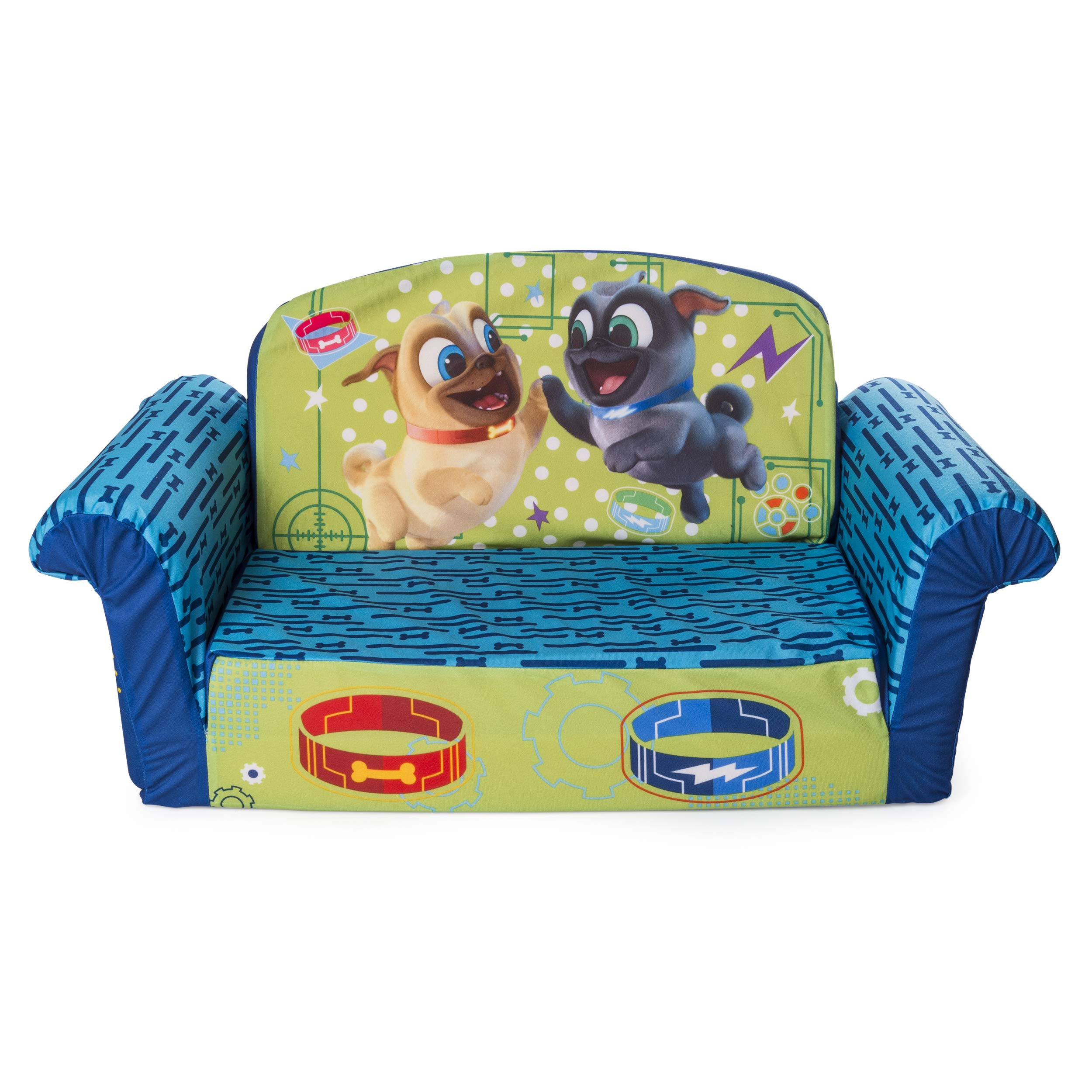 Marshmallow Furniture, Children's 2 in 1 Flip Open Foam Sofa, Disney's Puppy Dog Pals by Spin Master by Marshmallow Furniture