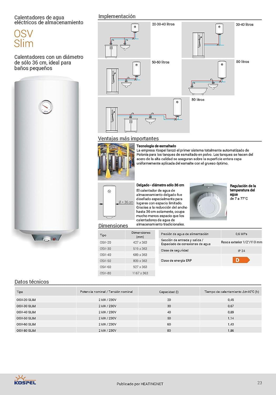 Calentador de agua eléctrico inmediato caldera 50l ducha del baño del tanque: Amazon.es: Bricolaje y herramientas