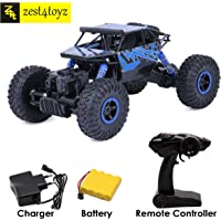 Zest 4 Toyz 2.4Ghz 1/18 RC Rock Crawler Vehicle Buggy Car 4 WD Shaft Drive High Speed Remote Control Monster Off Road Truck... Assorted Color