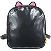 SteamedBun Ita Bag Ears Candy Leather Backpack Transparent Beach Girls School Bag