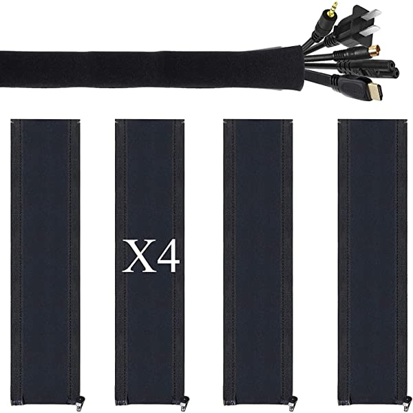 DIY neoprene cable management sleeve zipper wrap wire hider cover organizer XS