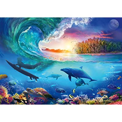Ravensburger 16451 Catch A Wave 1000 Piece Puzzle for Adults - Every Piece is Unique, Softclick Technology Means Pieces Fit Together Perfectly: Toys & Games