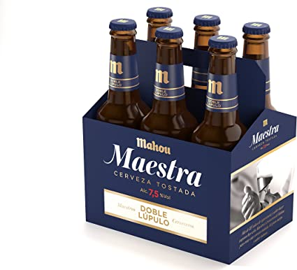 Mahou - Maestra Doble Lúpulo Cerveza Lager Tostada, 7.5% Volumen ...