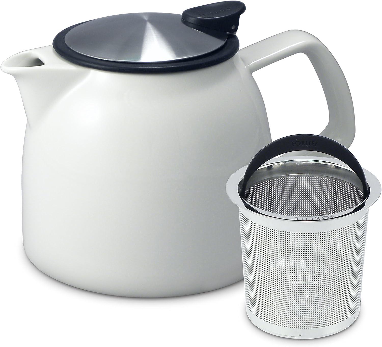 Amazon.com: Forlife Bell Tetera de cerámica con infusor de ...