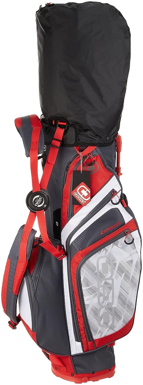 [オジオ] キャディバッグ CIRRUS スタンドタイプ サイズ:9型/47インチクラブ対応/約2.5Kg/ 機能:グローブアタッチメントブルクロ/フリースバリュアブルポケット/ハイドレーションポケット/EASY LIFT HANDLE 125064J8 B074JC5R79 rush red rush red