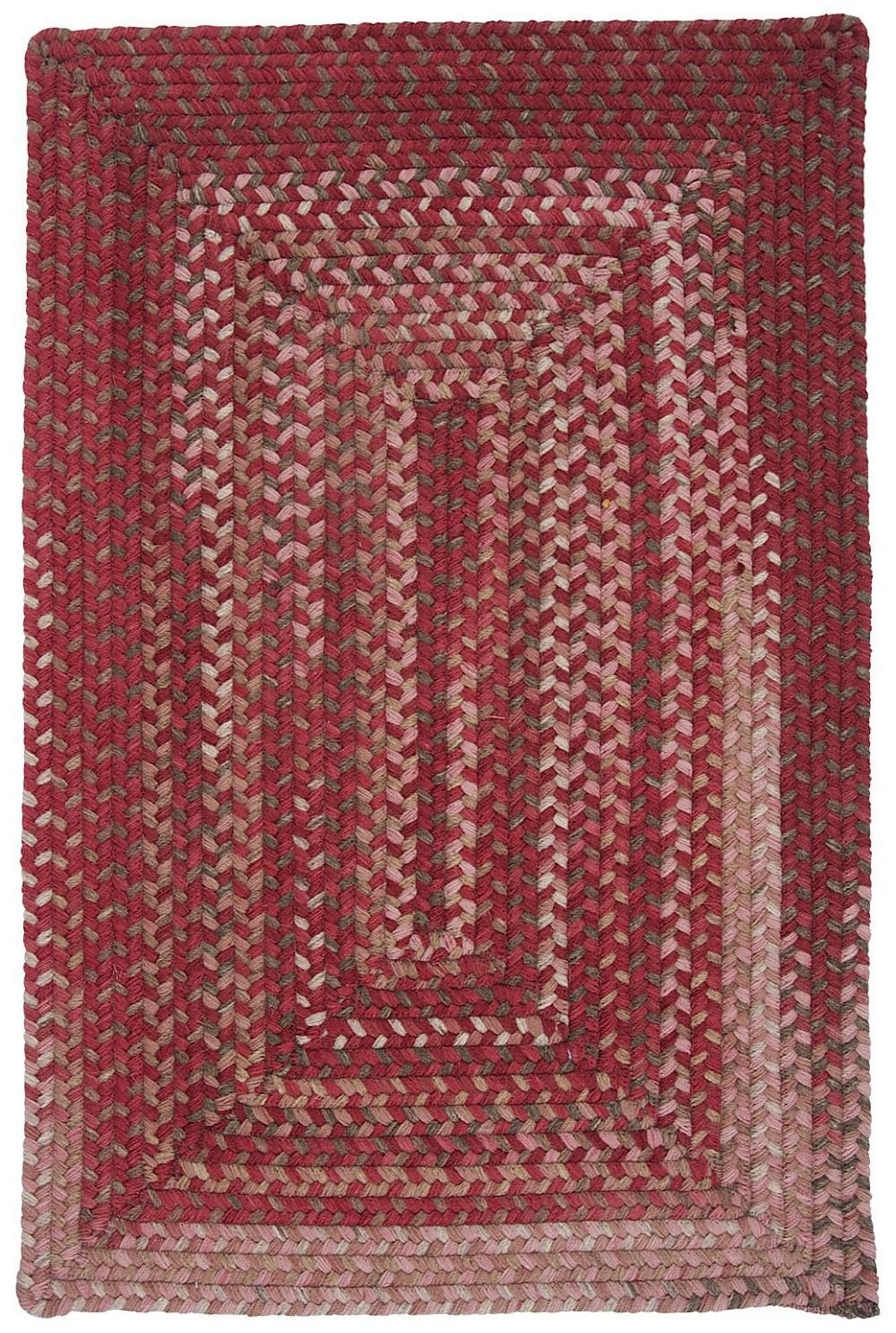 Colonial Mills Gloucester Red 4 x6 Braided Area Rug